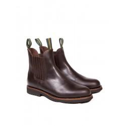 Bota moldeada de piel color castaña Dakota Boots